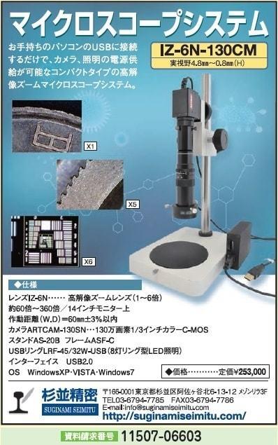 コンパクトタイプ 高解像ズームマイクロスコープシステム