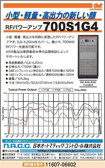 RFパワーアンプ 700S1G4