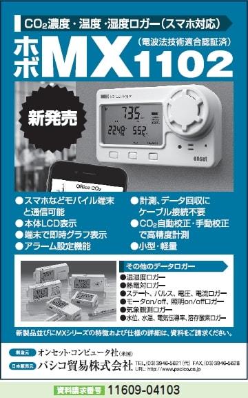 CO2濃度・温度・湿度ロガー(スマホ対応)