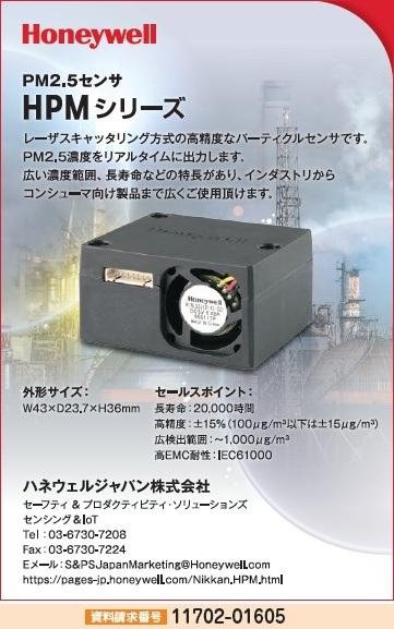 PM2.5センサ HPMシリーズ