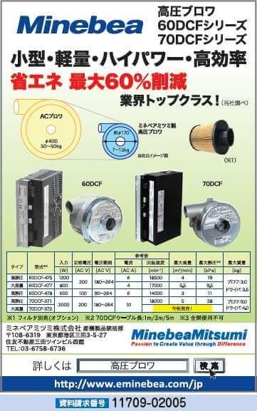 高圧ブロワ60DCFシリーズ/70DCFシリーズ