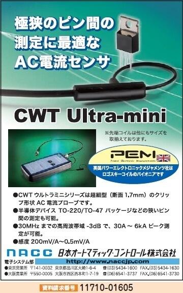 AC電流センサ CWT Ultra-mini