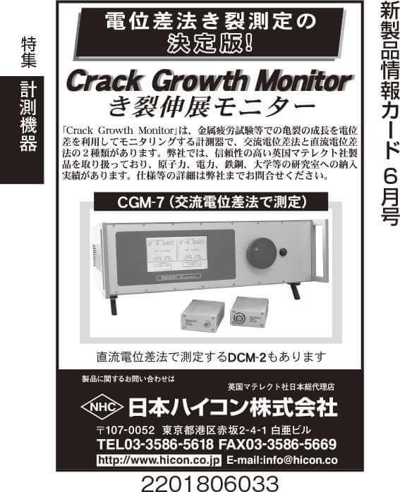 き裂伸展モニター