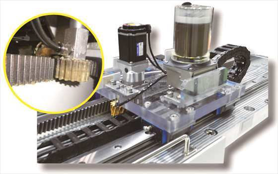 ラック&ピニオン自動潤滑システム