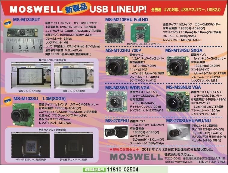 MOSWELL 新製品 USB LINEUP