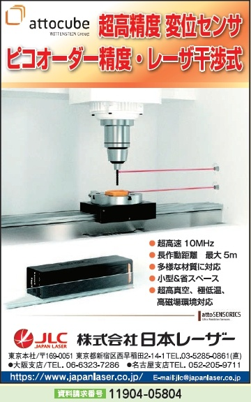 超高精度 変位センサ ピコオーダー精度・レーザ干渉式
