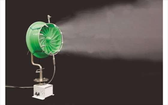 濡れない霧の省エネ冷房装置