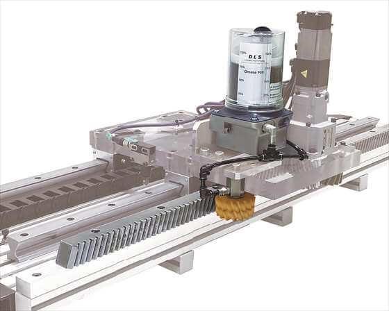 ラック&ピニオンDLS潤滑システム