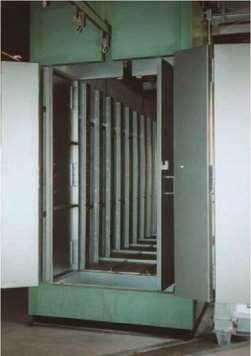 塗装の乾燥時間を半分以下に最新型高圧熱風乾燥炉