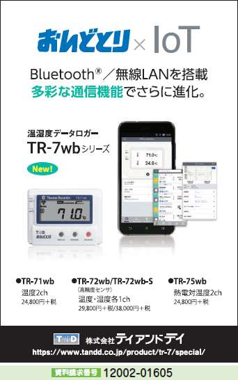 温湿度データロガー TR-7wbシリーズ