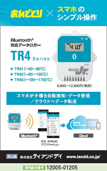 Bluetooth対応データロガー