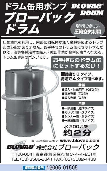 ドラム缶用ポンプ ブローバックドラム