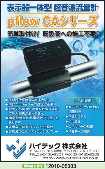 表示器一体型 超音波流量計