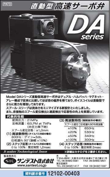 直動型高速サーボ弁 DAシリーズ