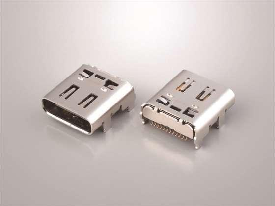 「USB4認証取得USB Type-Cレセプタクルコネクタ」
