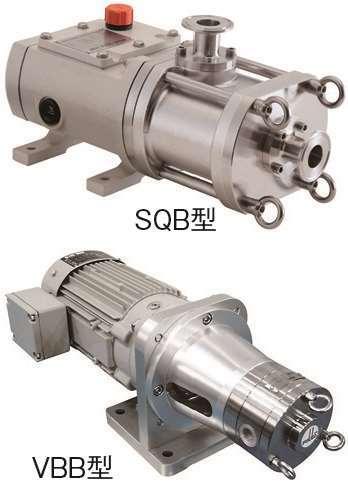《スタッドボルト仕様》2軸スクリューポンプSQB型/小型ベーンポンプVBB型