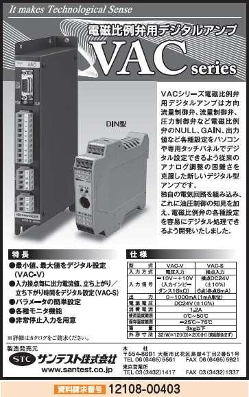 電磁比例弁用デジタルアンプ VACシリーズ