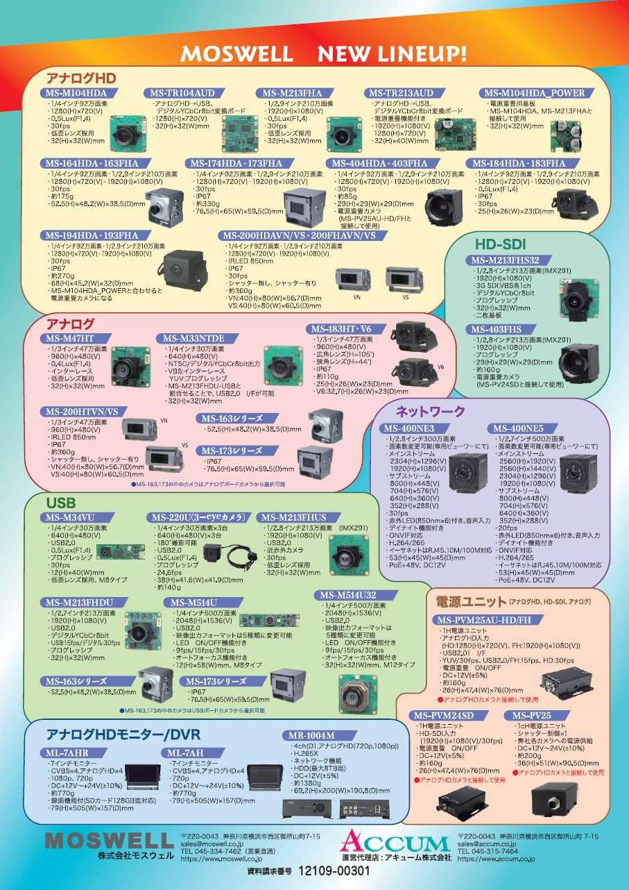 産業用カメラ・周辺機器