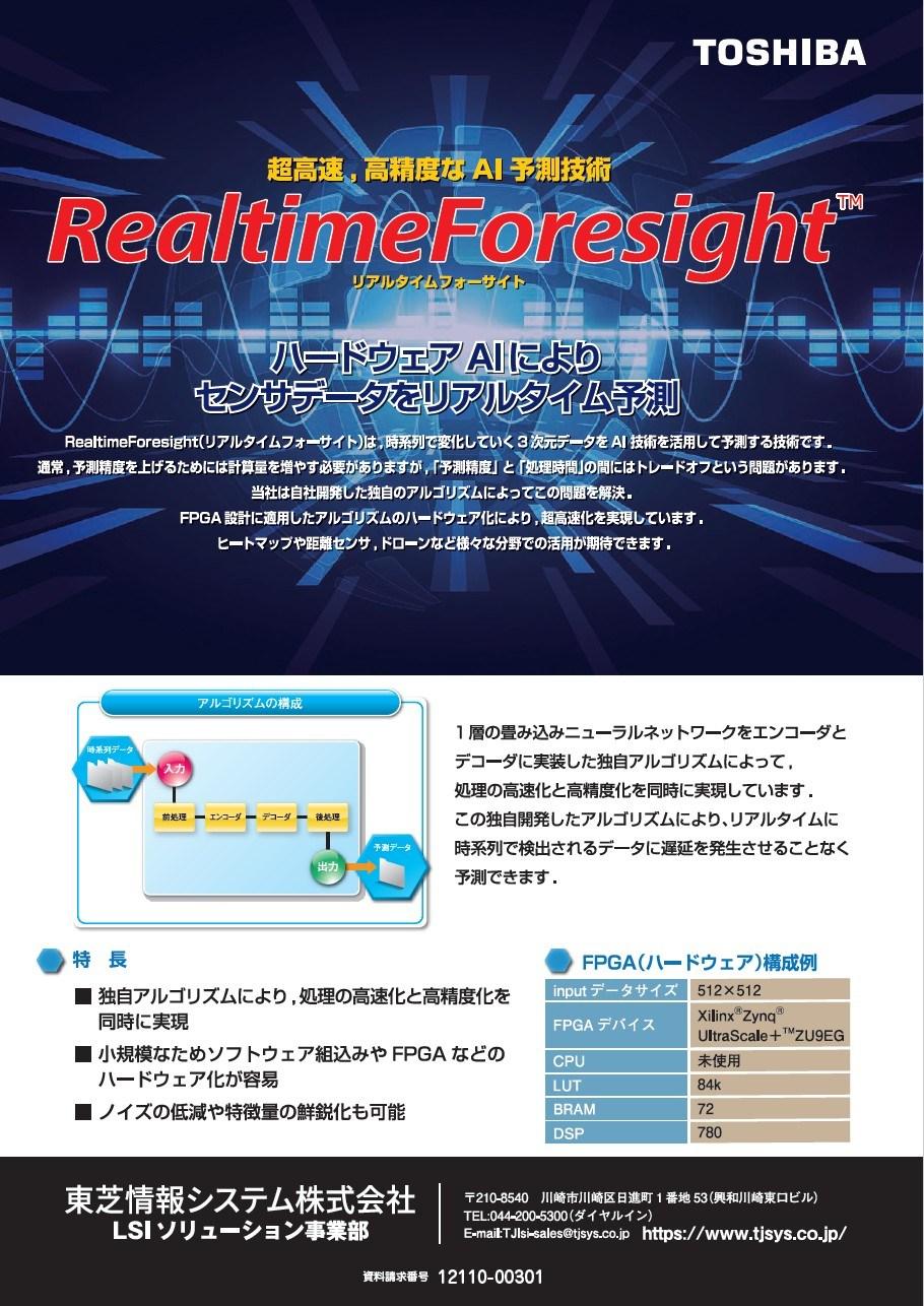 超高速、高精度なAI予測技術 リアルタイムフォーサイト